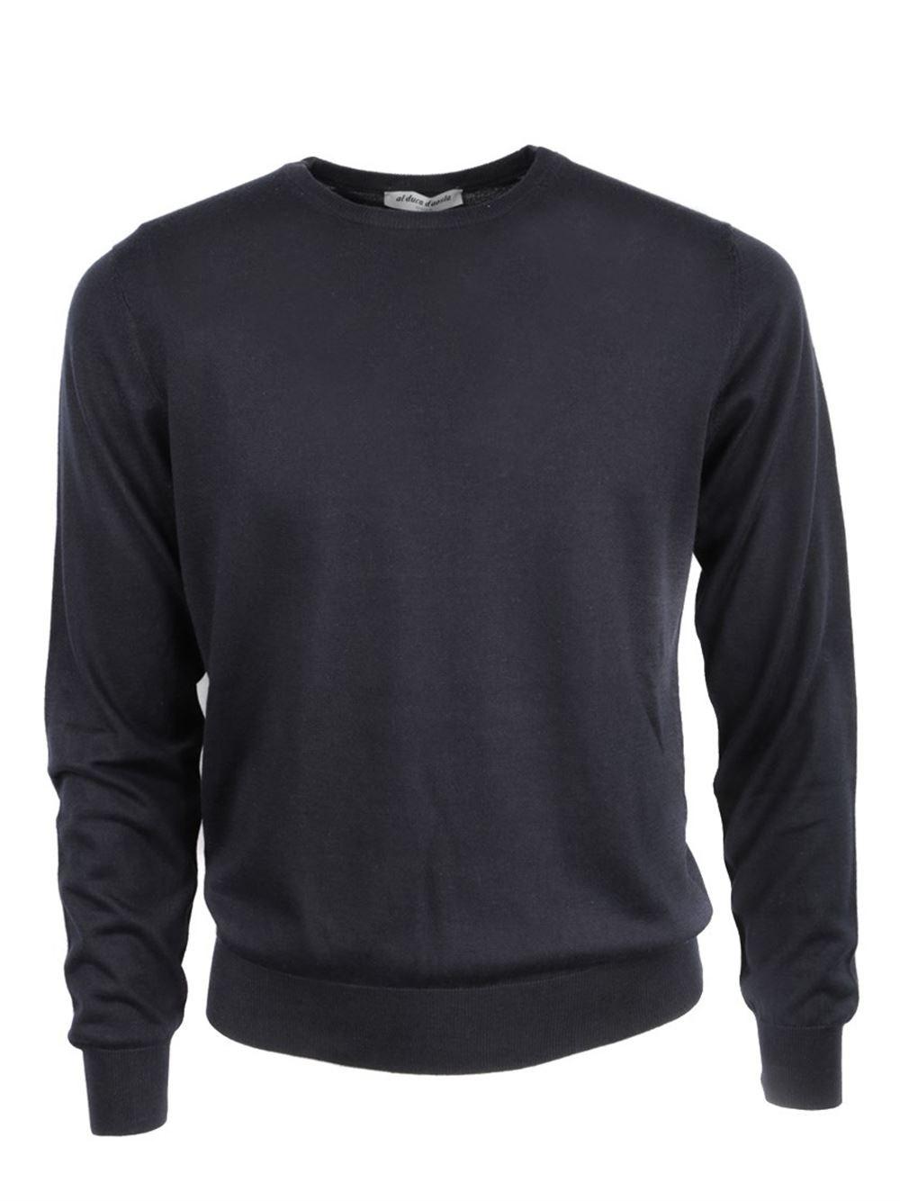AL DUCA D'AOSTA Blu Cashmere And Silk Sweater