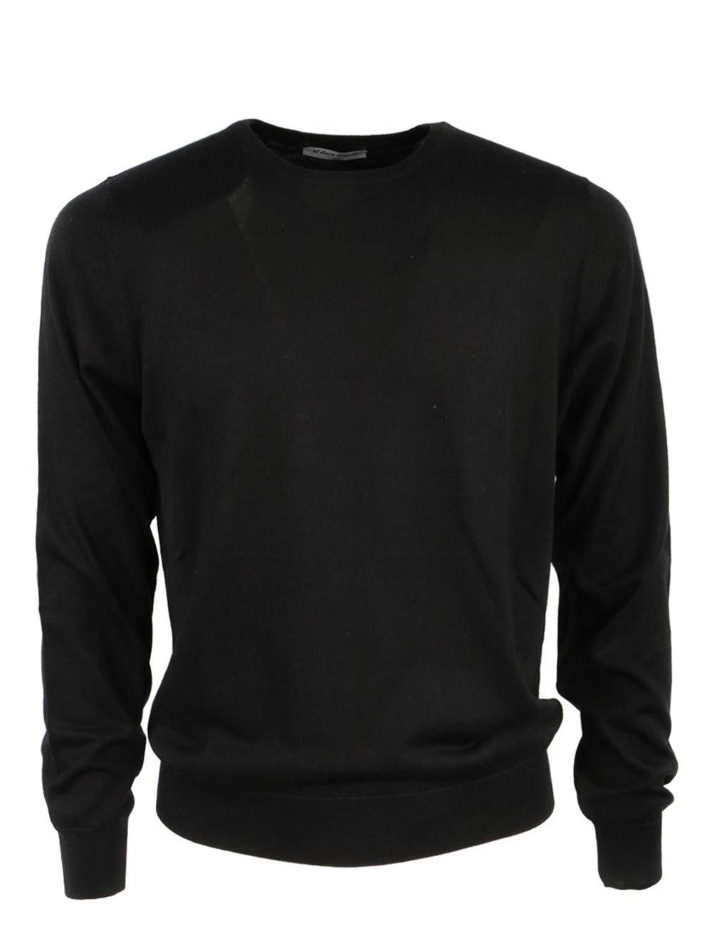 AL DUCA D'AOSTA Black Cashmere And Silk Sweater