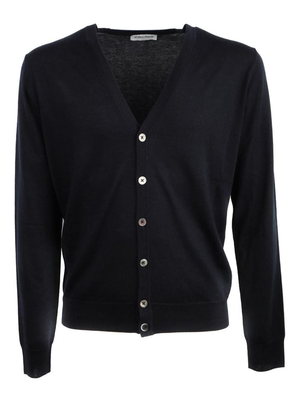 AL DUCA D'AOSTA Blu Cashmere And Silk Cardigan