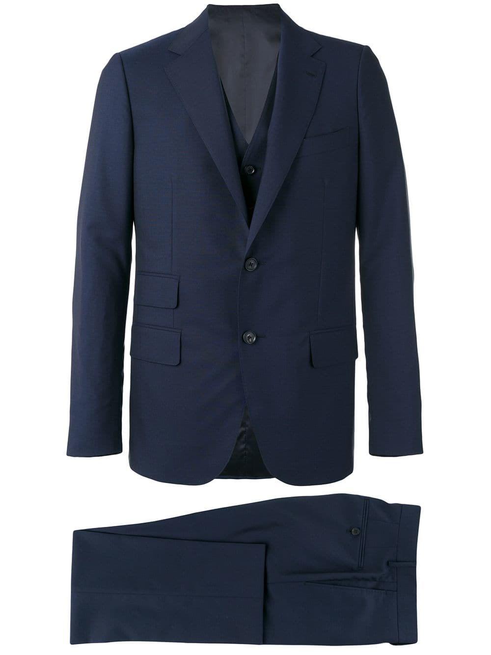 CARUSO Blue Formal Suit