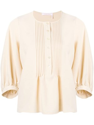 9239e8840a SEE BY CHLOE  Pleated flare blouse ...