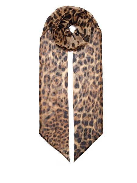 b5448572d30a8 SAINT LAURENT Leopard-Print Silk Lavallière Tie