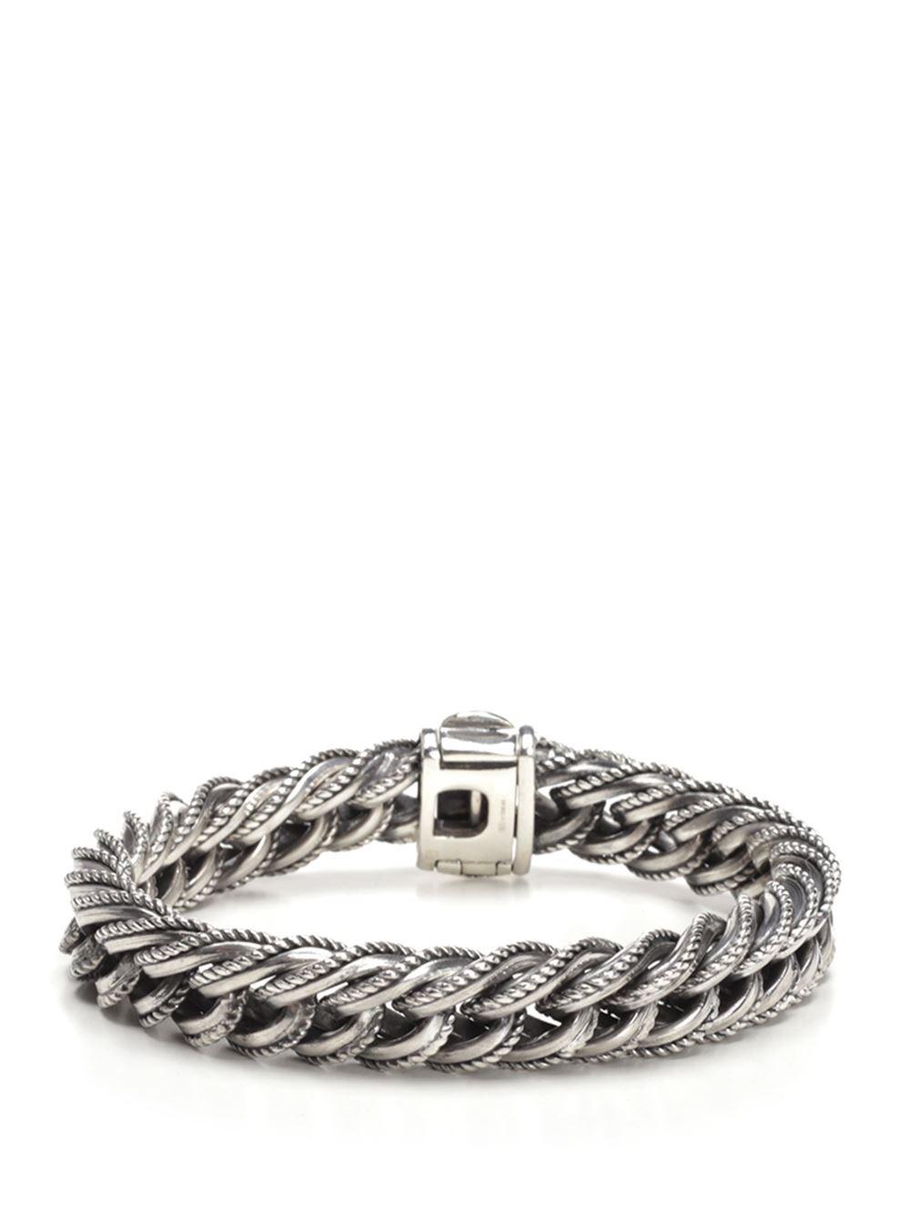 UGO CACCIATORI Silver Chain And Cable Bracelet