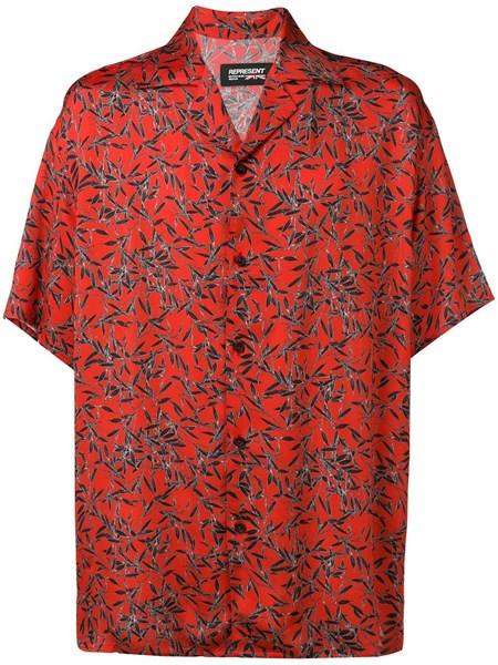 promo code 1b138 3c998 camicia rossa a maniche corte con stampa