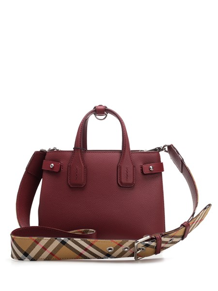 Burberry Baby Banner Bag In Red Leather Available On Alducadaosta Com 12628 Ca