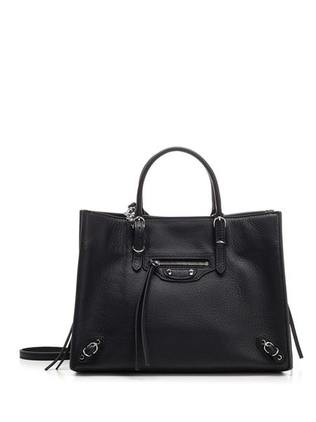 """Balenciaga """"Papier A6"""" Bag In Black Leather"""