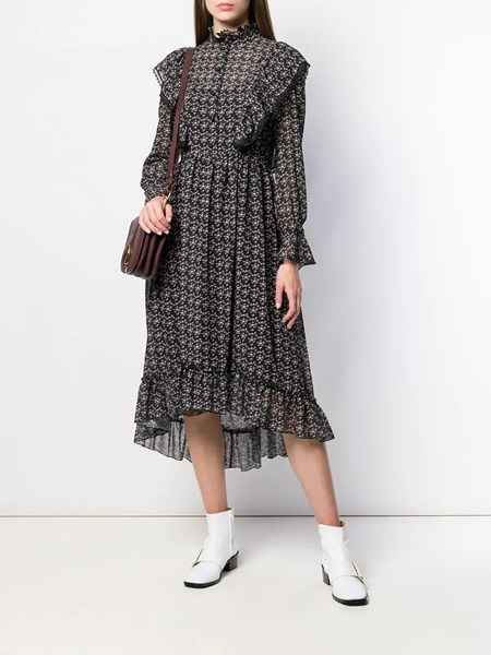 Frilled Midi Dress