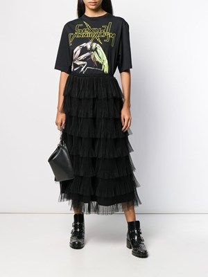 5274486e73 REDVALENTINO Maxi skirt with pleated ruffles REDVALENTINO Maxi skirt with  pleated ruffles