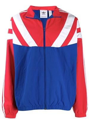 giacca adidas rossa blu e bianca