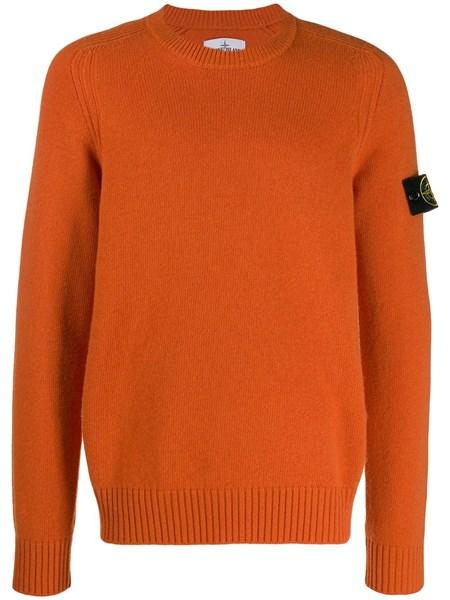 check-out 54440 96a10 stone island Maglione in lana arancione su alducadaosta.com ...
