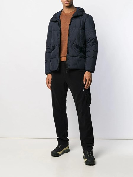 outlet for sale wholesale online top brands stone island Blue navy padded jacket available on alducadaosta.com ...