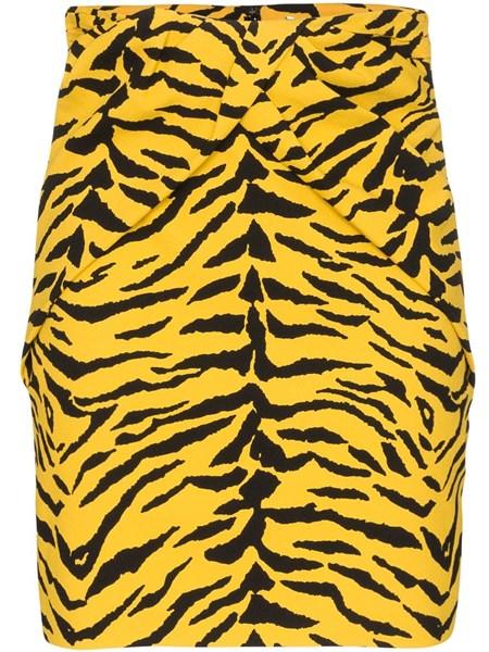 Saint Laurent Skirts Zebra print sablè miniskirt
