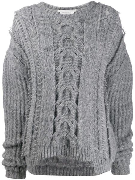 Maglione oversize in lana grigio