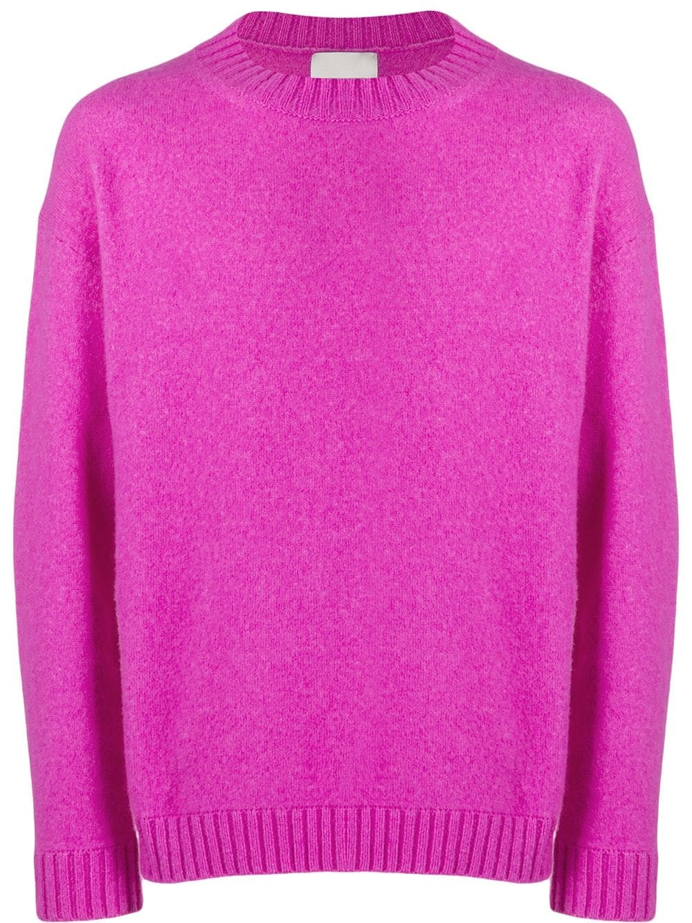 LANEUS Fuchsia Bled Silk And Cashmere Sweater