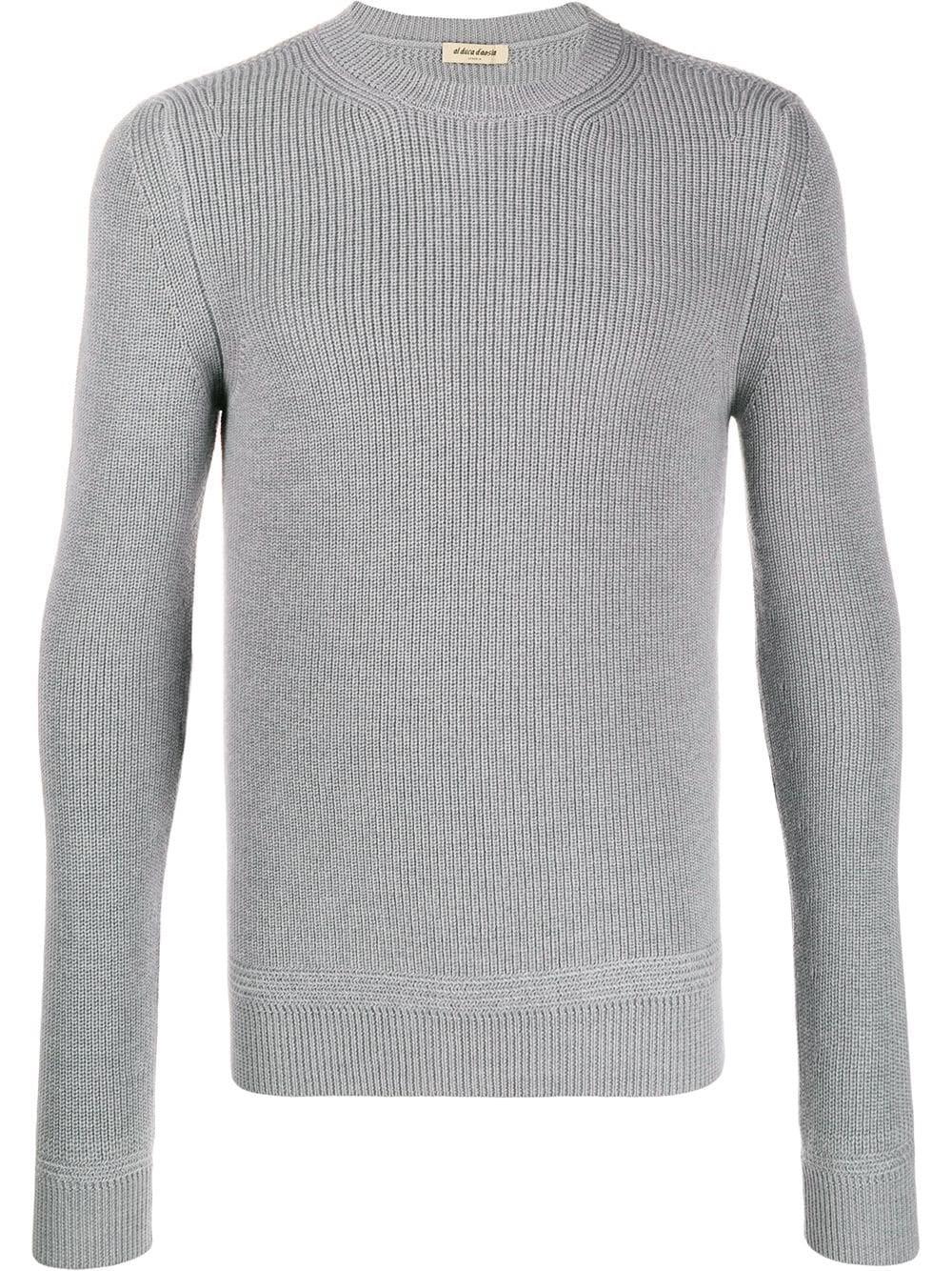 AL DUCA D'AOSTA 1902 Grey Wool Sweater