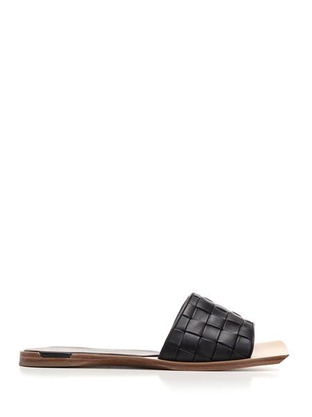 bottega veneta Black Intreccio slippers