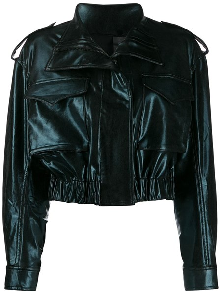 Norma Kamali Jackets cropped faux leather jacket