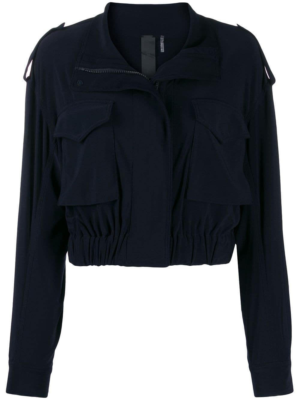 NORMA KAMALI Zipped Cropped Jacket