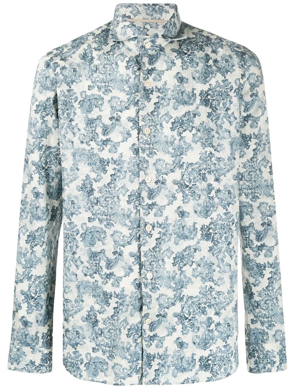 AL DUCA D'AOSTA 1902 Cashmere Print Cotton Shirt