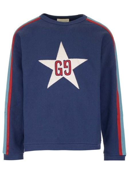 economico per lo sconto cb043 fe7aa Felpa blu con stella e logo