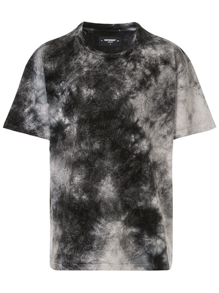 Represent Black And White Tie Dye Efect T-Shirt