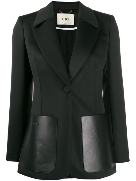 Fendi Blazers Black blazer with wide lapels