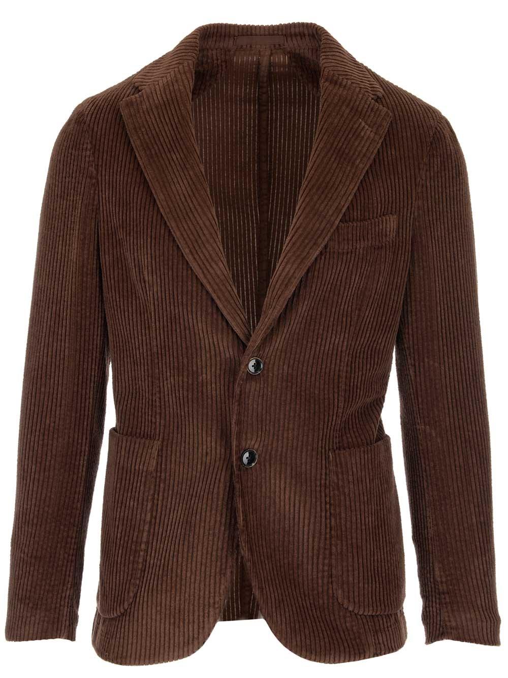 AL DUCA D'AOSTA 1902 Brown Velvet Jacket