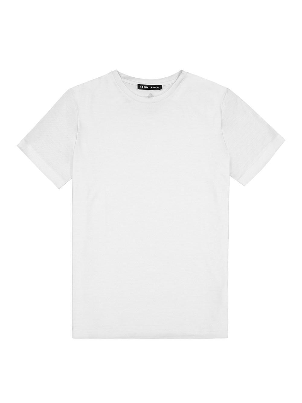 FORMAL FRIDAY White T-Shirt In Ultra-Fine Merino Wool