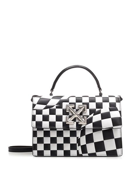"Off-White Bags ""Jitney"" optical pattern handbag"
