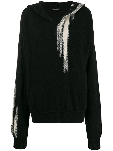 Ann Demeulemeester Knits Deconstructed hooded knit jumper