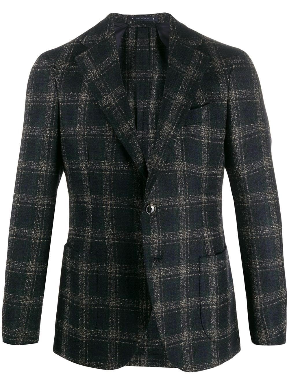 AL DUCA D'AOSTA 1902 Check Pattern Blazer