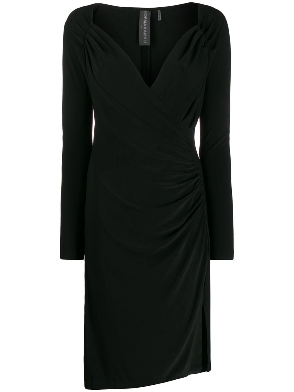NORMA KAMALI Ruched Wrap Dress