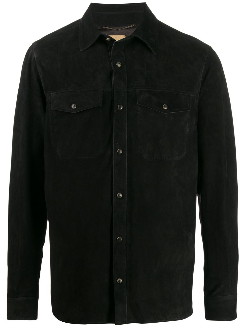 "AJMONE Black ""Molly"" Leather Shirt"