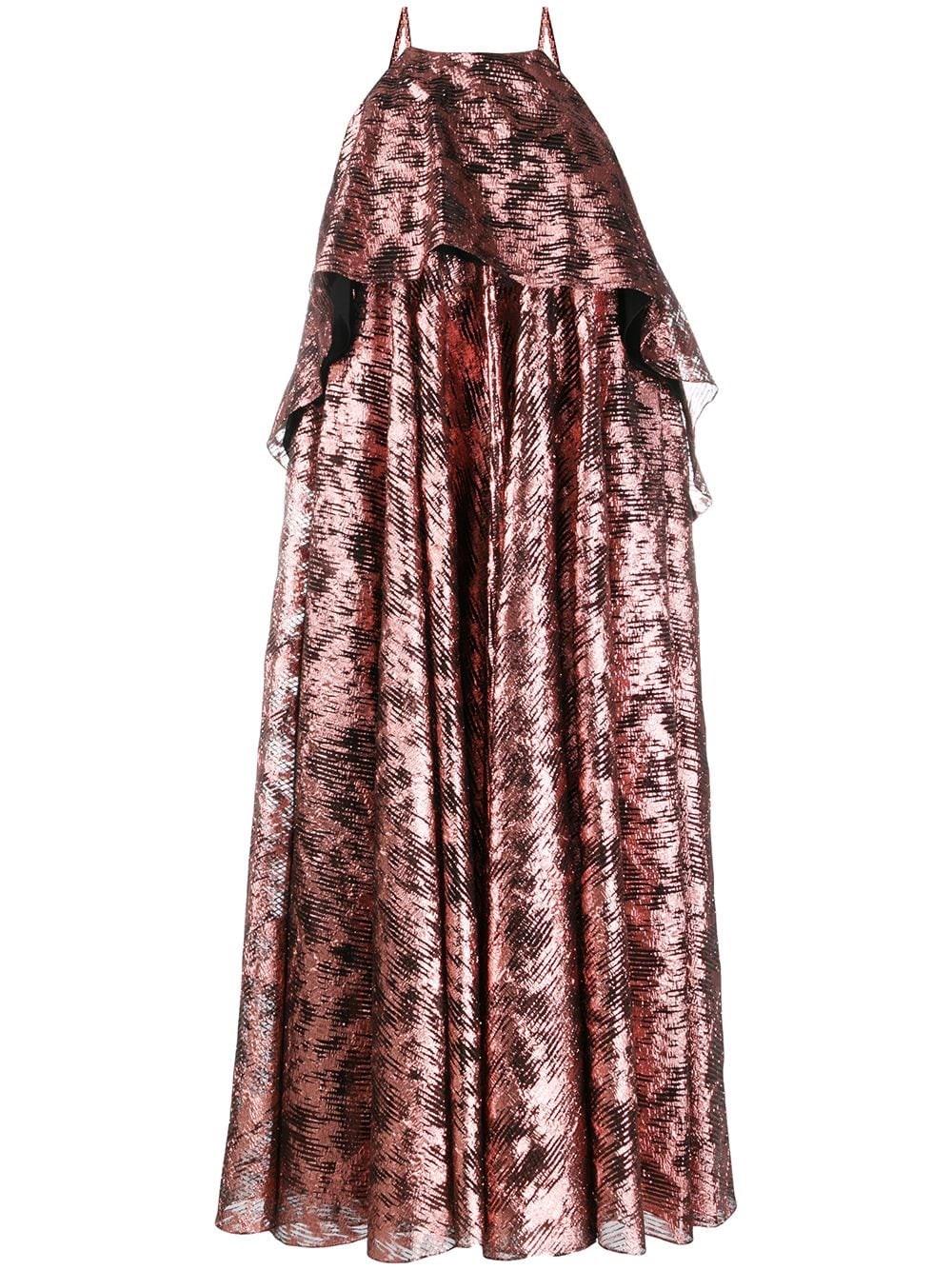 HALPERN Halter Neck Georgette Dress