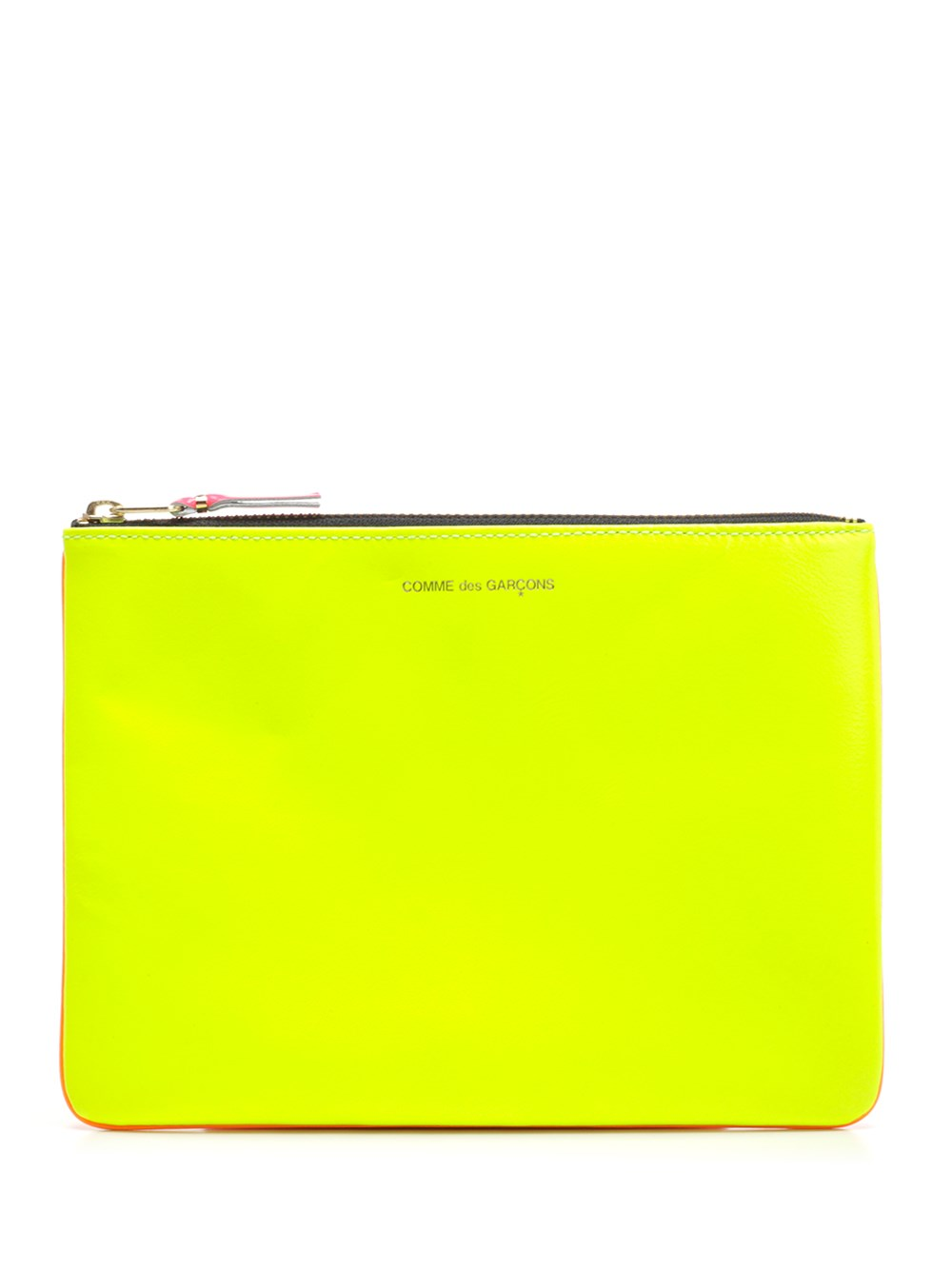 COMME DES GARCONS WALLET Yellow And Orange Bicolor Face Pouch