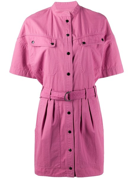 "Etoile Isabel Marant Dresses ""Zolina"" pink cotton mini dress"