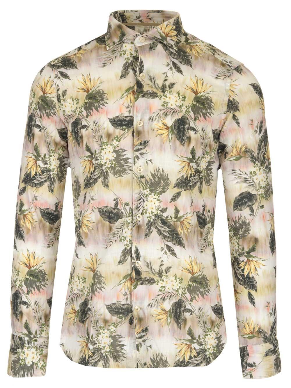 AL DUCA D'AOSTA 1902 Cotton Popelin Slim Fit Shirt