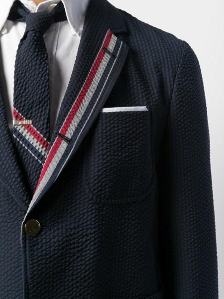 Thom Browne Wool Seersucker Jacket For Men Us Al Duca D Aosta