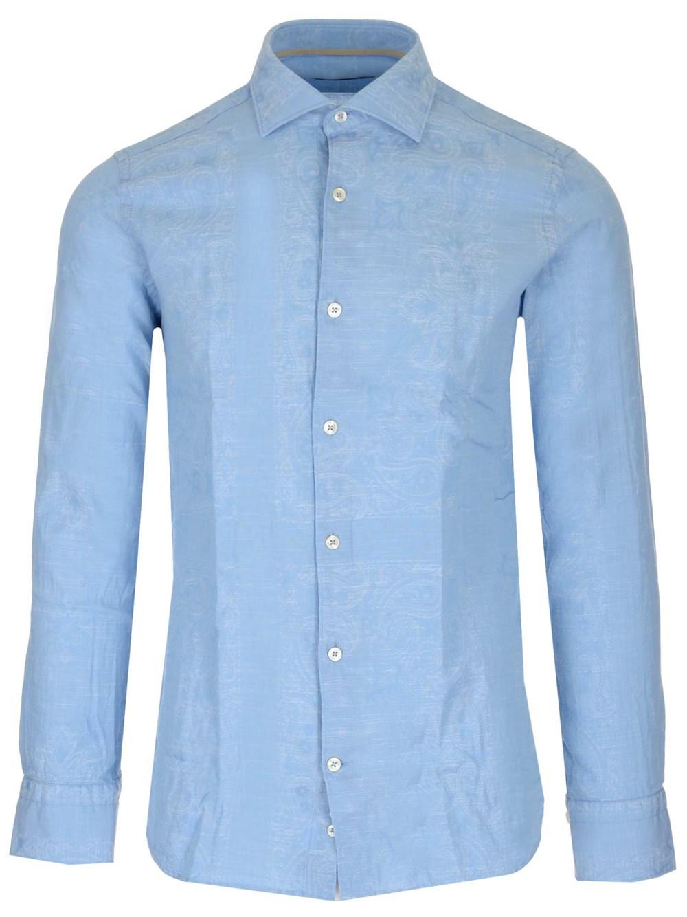 AL DUCA D'AOSTA 1902 Damask Pattern Shirt