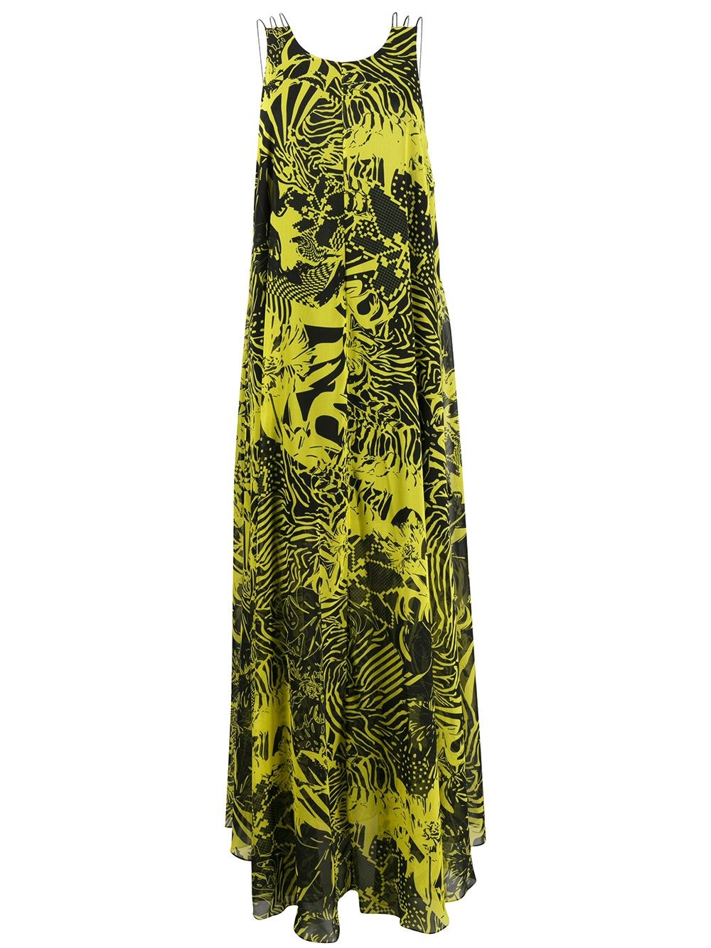 HALPERN Printed Maxi Dress