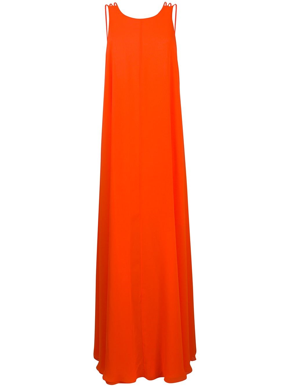 HALPERN Orange Long Dress