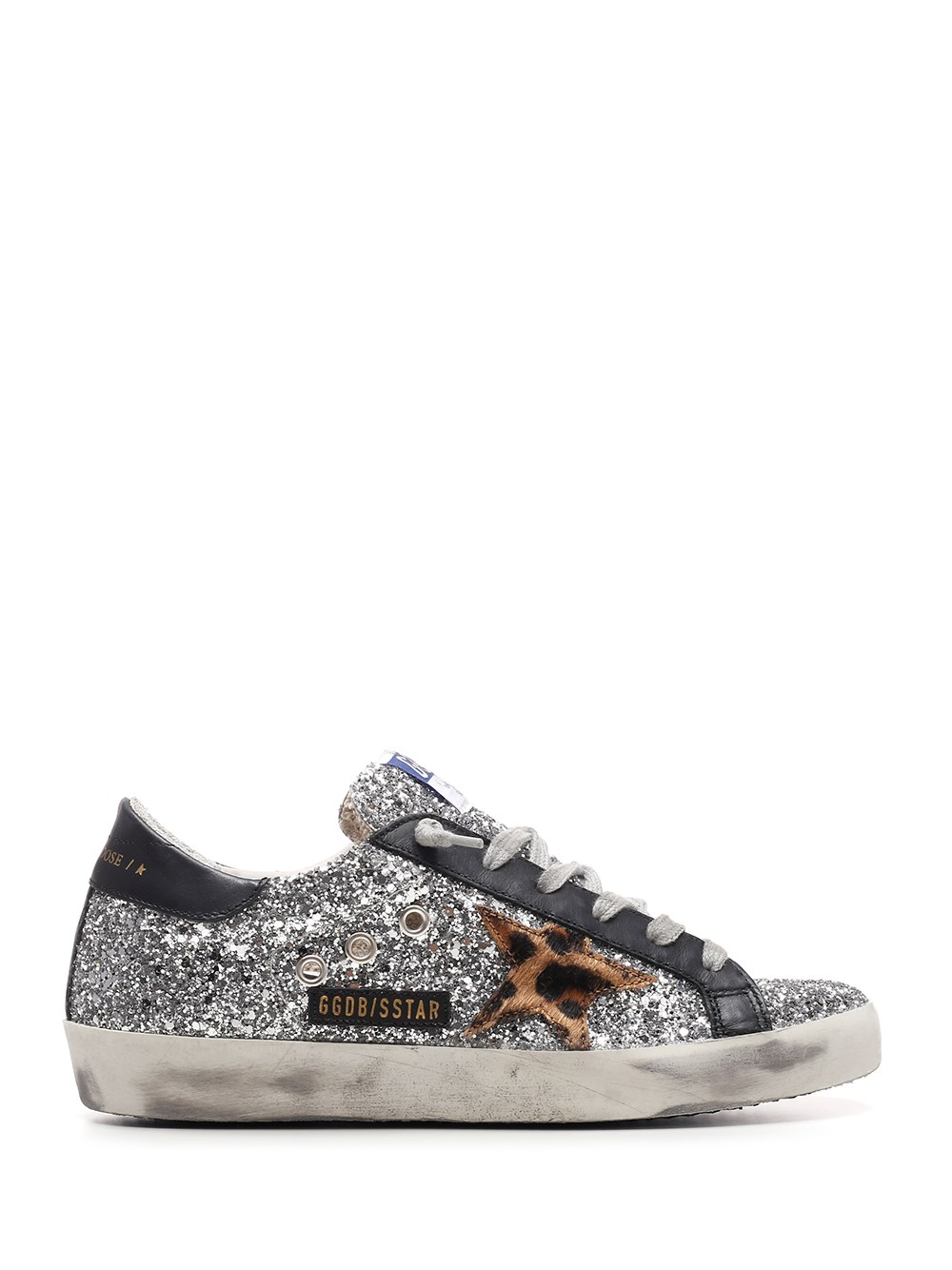 "GOLDEN GOOSE DELUXE BRAND Glitter And Calf Hair ""Superstar"" Sneakers"