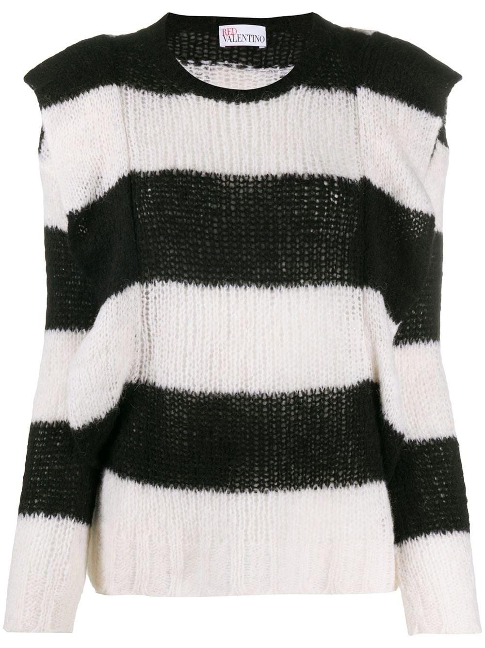 REDVALENTINO Striped Sweater