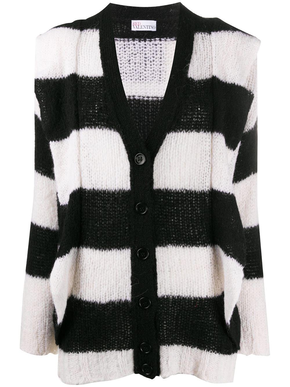 REDVALENTINO Striped Cardigan