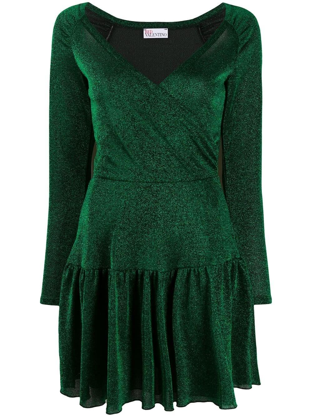 REDVALENTINO Lurex Jersey Mini Dress