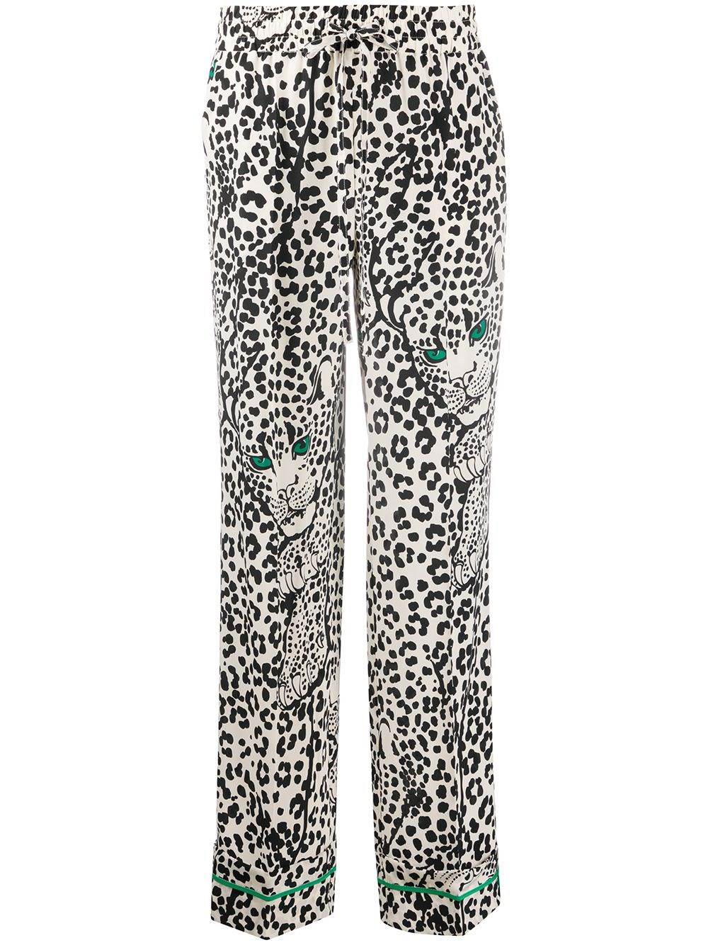 REDVALENTINO Silk Trousers With Animalier Print