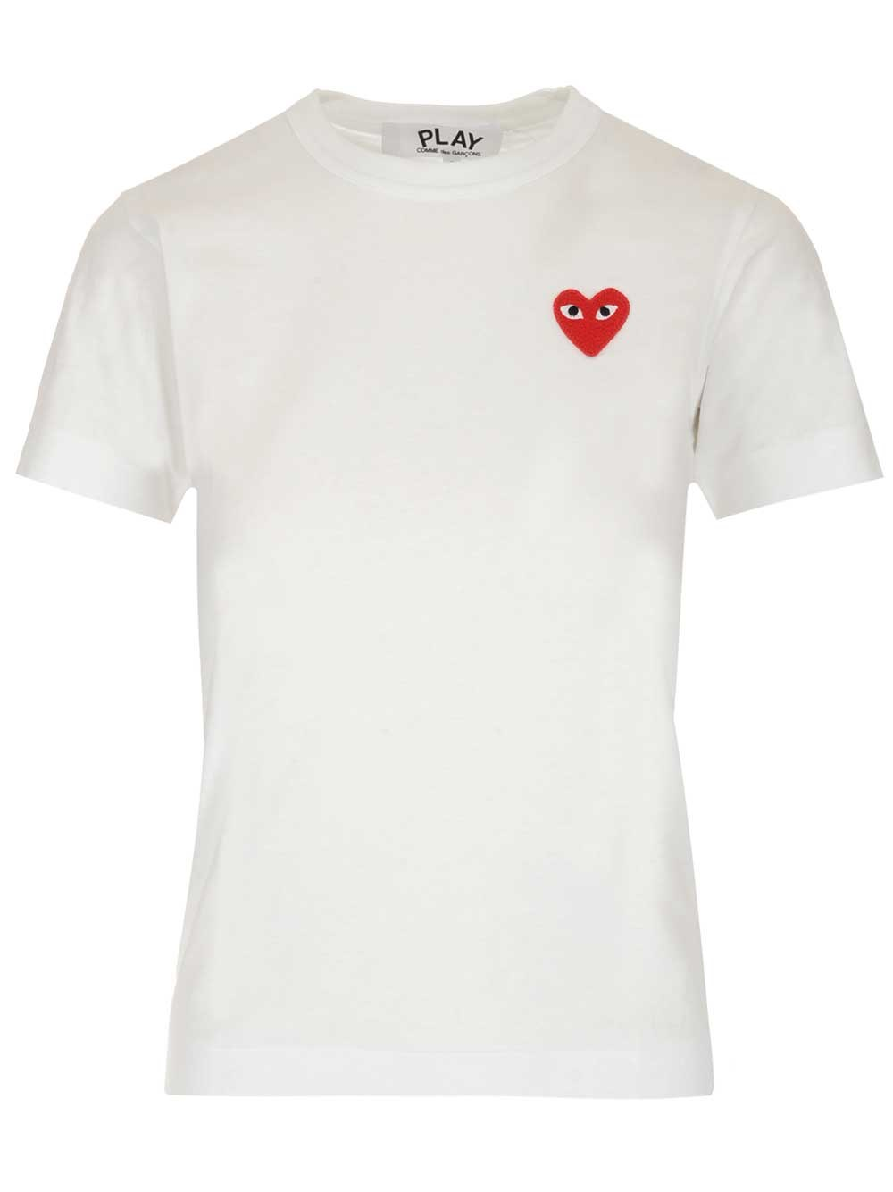 COMME DES GARCONS PLAY Heart Embroidery T-Shirt