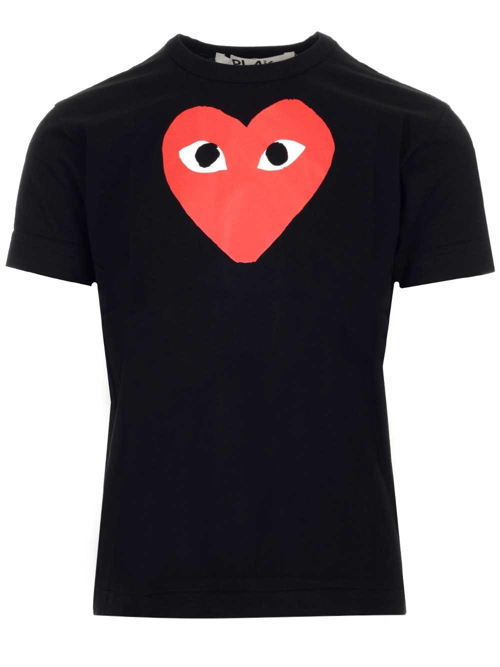COMME DES GARCONS PLAY Heart Print T-Shirt