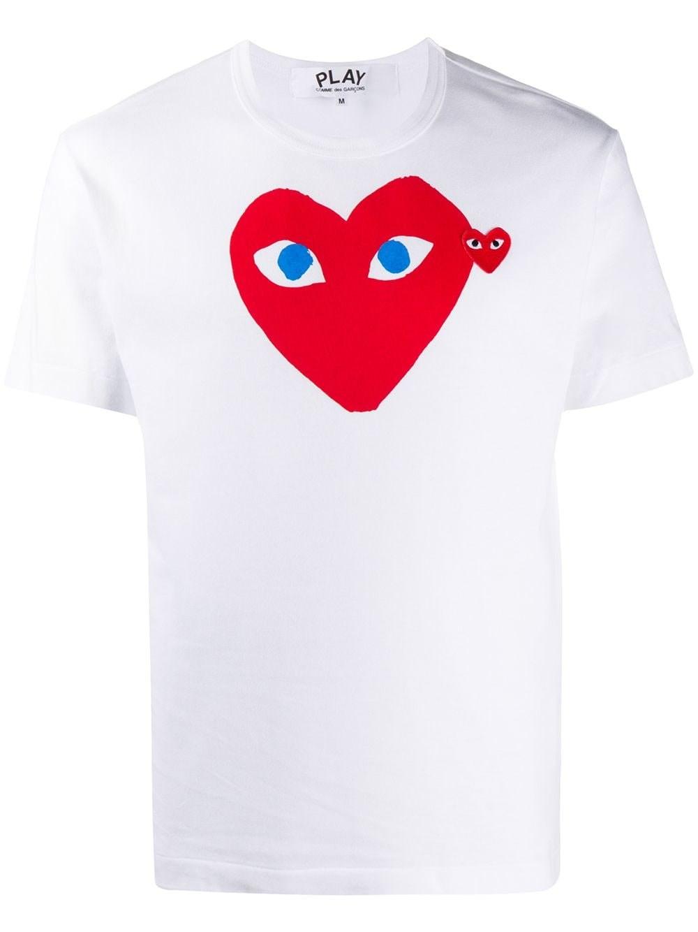 COMME DES GARCONS PLAY White Slim Fit T-Shirt