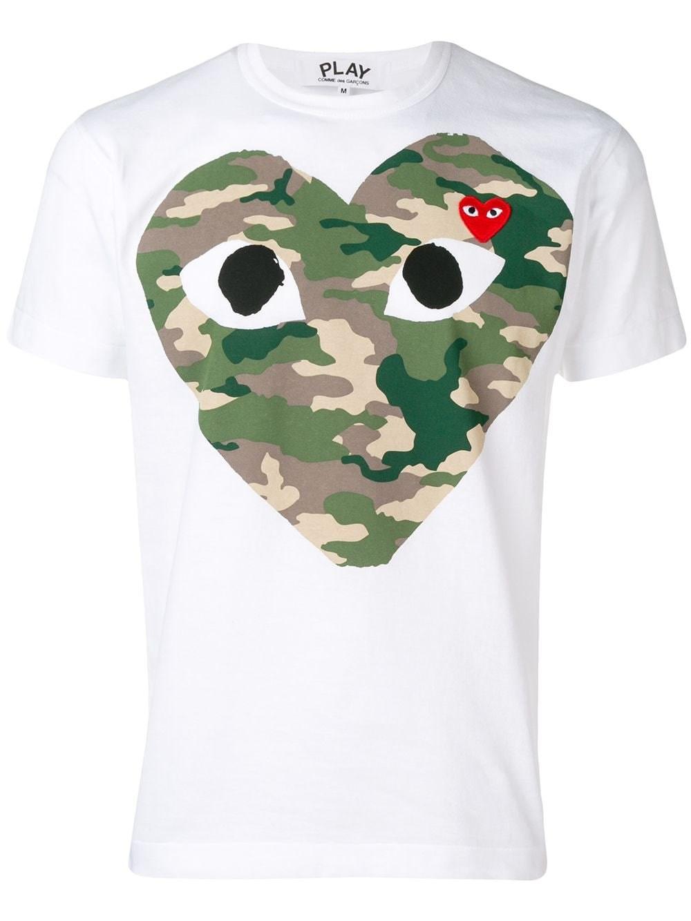 COMME DES GARCONS PLAY Camu Heart T-Shirt